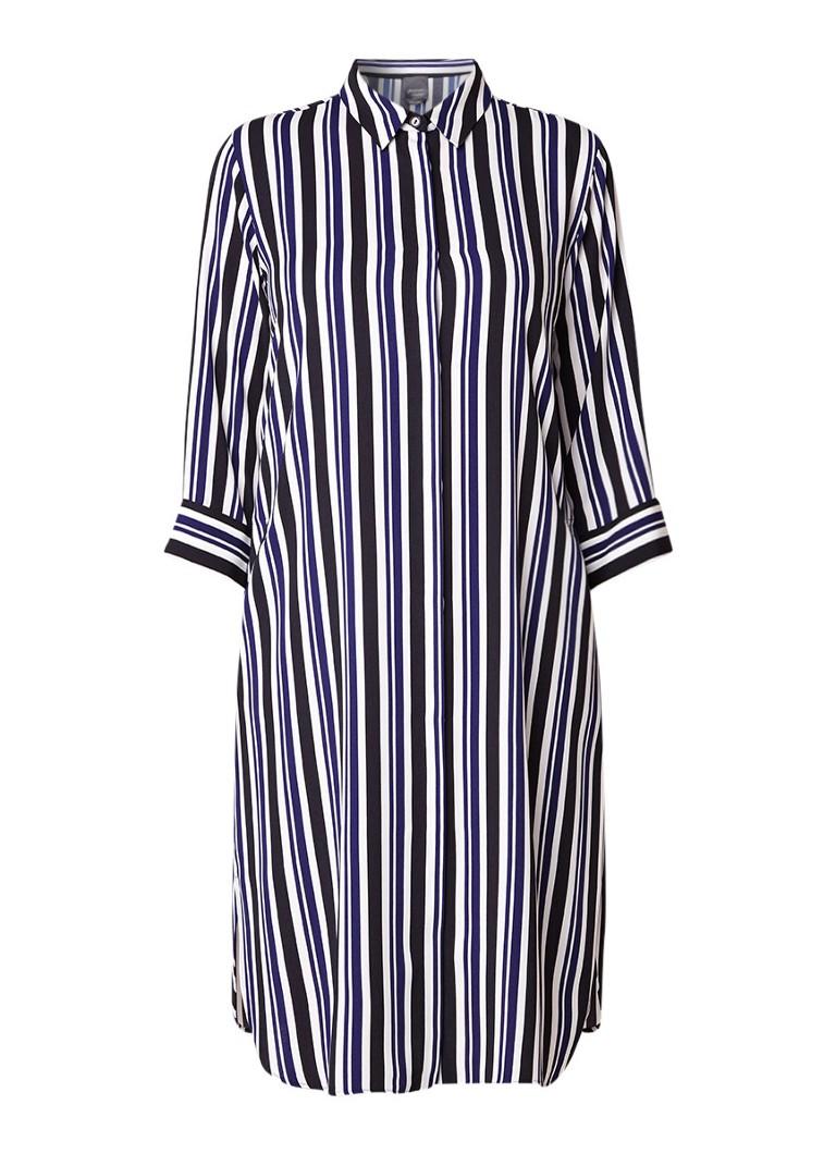 Marina Rinaldi Delta blousejurk met streepdessin donkerblauw