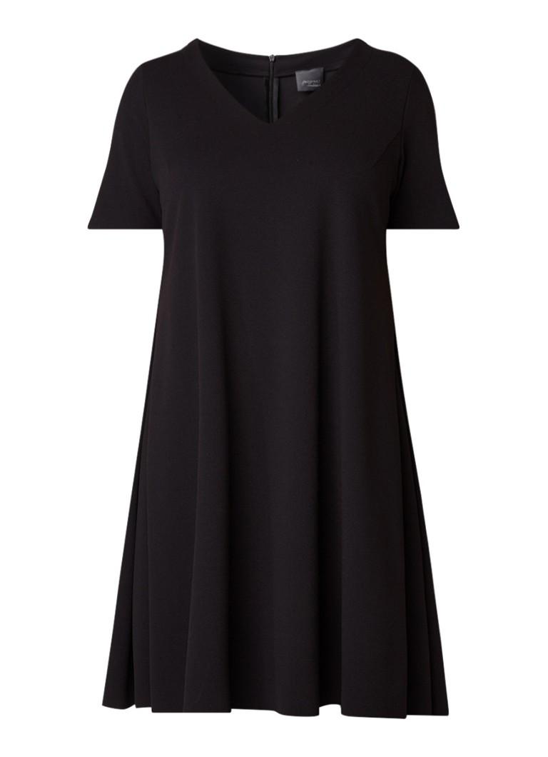 Marina Rinaldi Opale A-lijn jurk van crêpe zwart