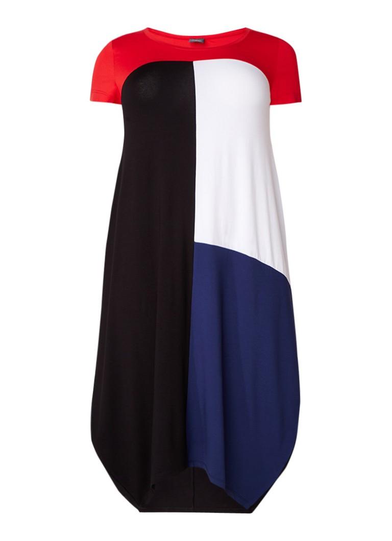 Marina Rinaldi Opera maxi-jurk van jersey met colour blocking zwart