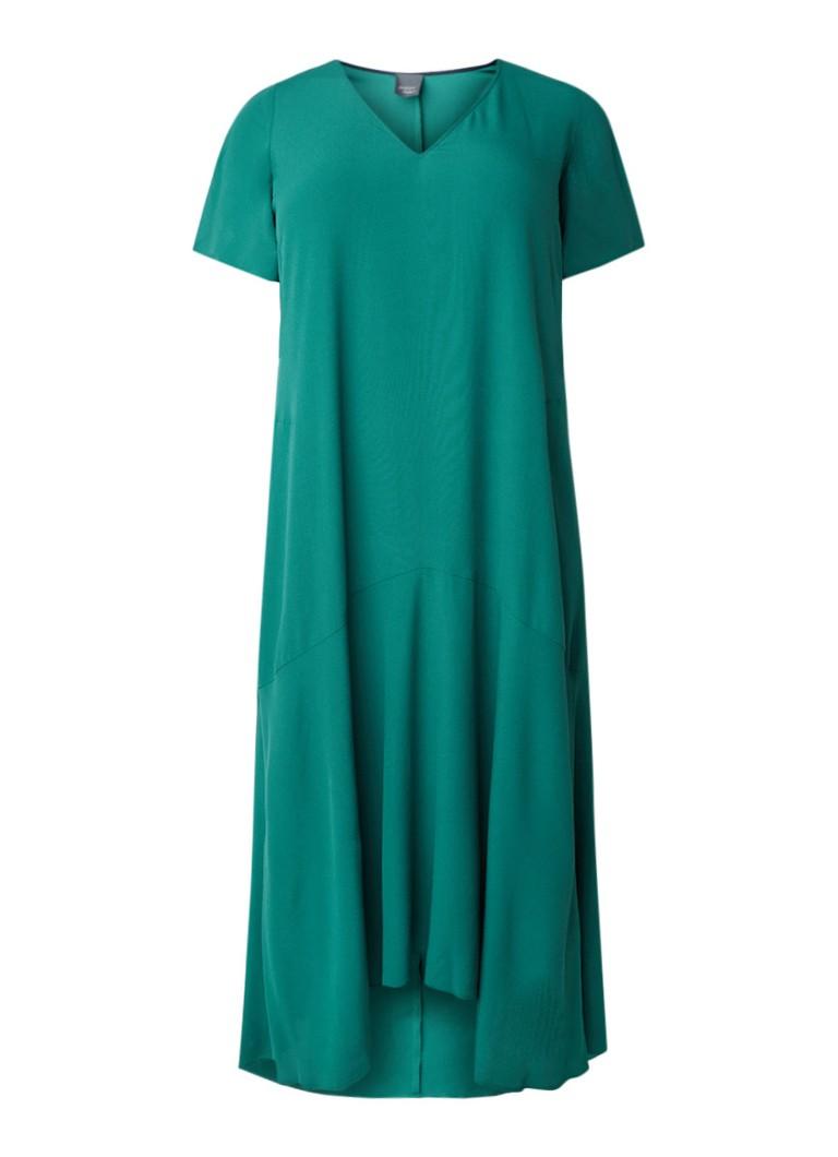 Marina Rinaldi Maxi-jurk van crêpe flessengroen