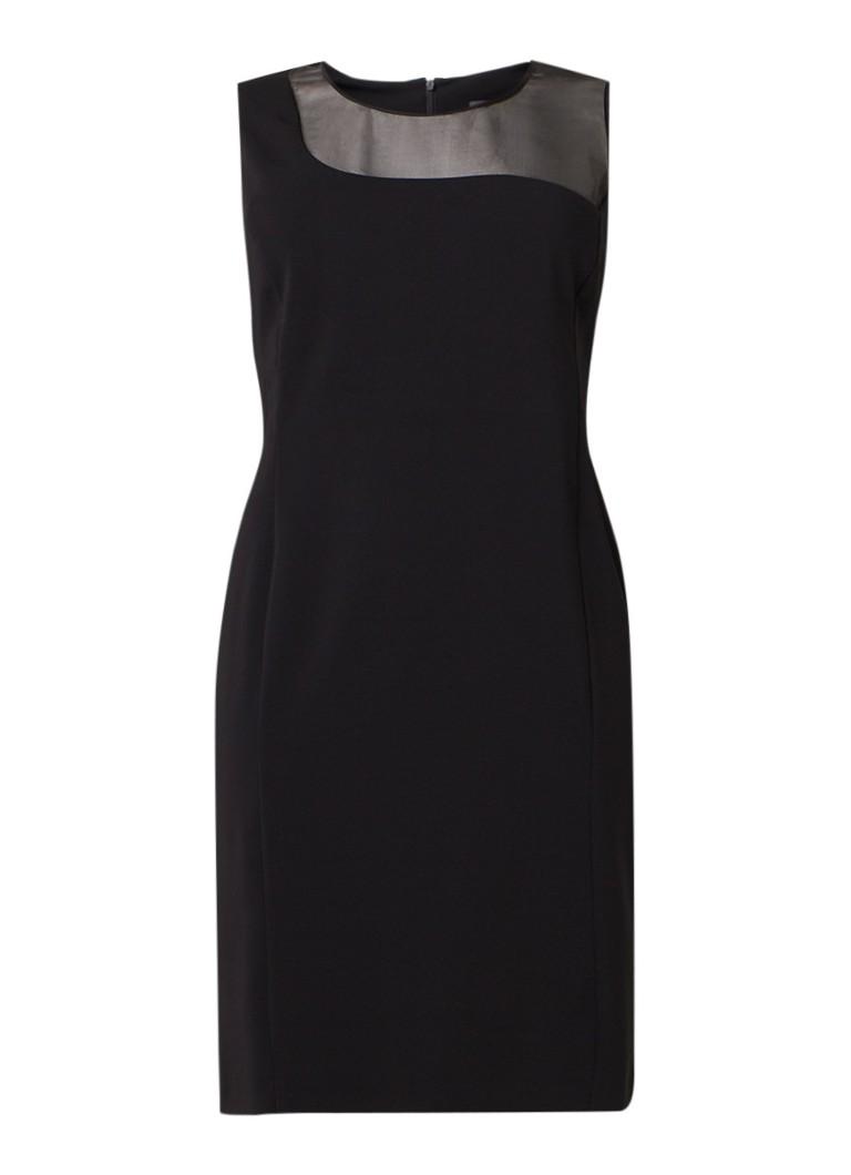 Marina Rinaldi Diana tuniekjurk met inzet van zijde en extra mouwen zwart
