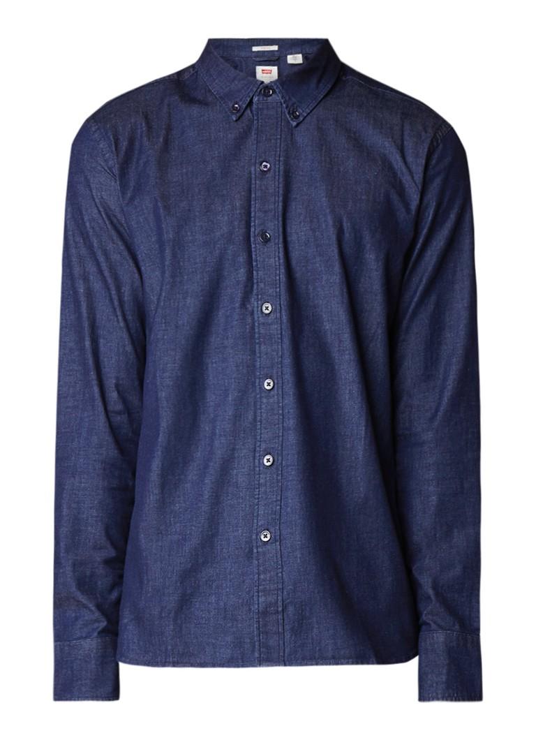 Levi's Pacific slim fit overhemd van denim met stretch