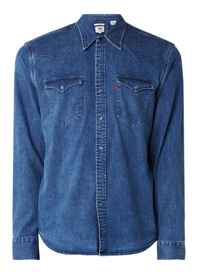 Levi's Barstow Western denim regular fit overhemd met stretch