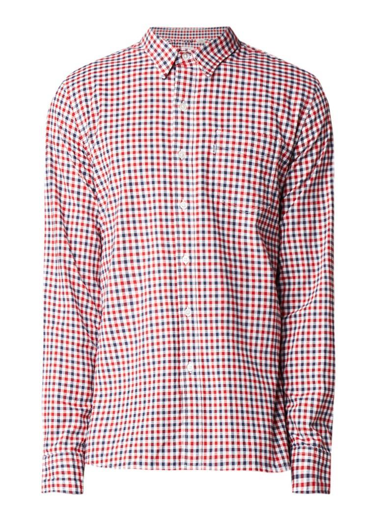 Levi's Sunset overhemd met borstzak en geruit dessin