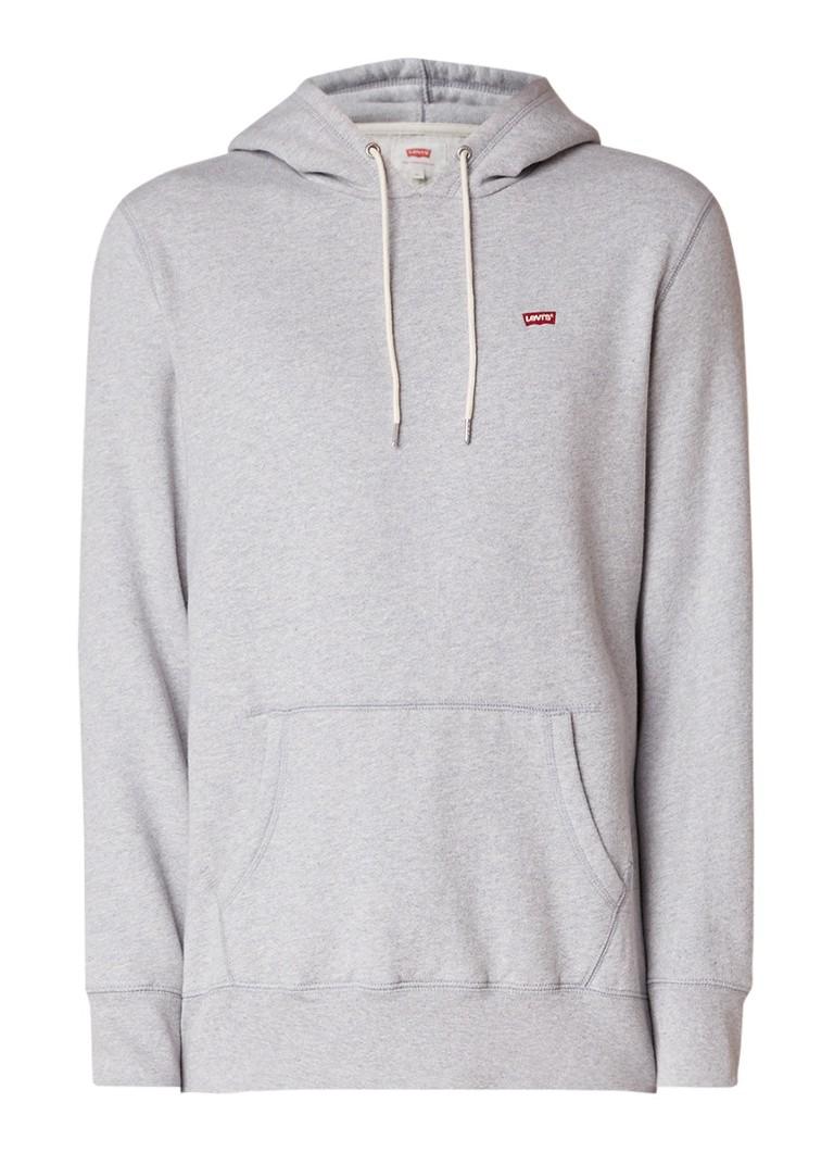 Levi's Gemêleerde hoodie van katoen met buidelzak