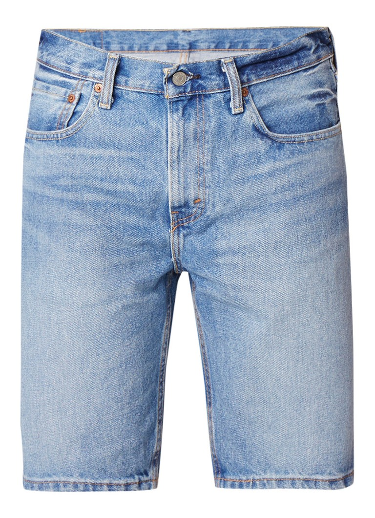 Levi's 502 tapered fit denim shorts met faded look