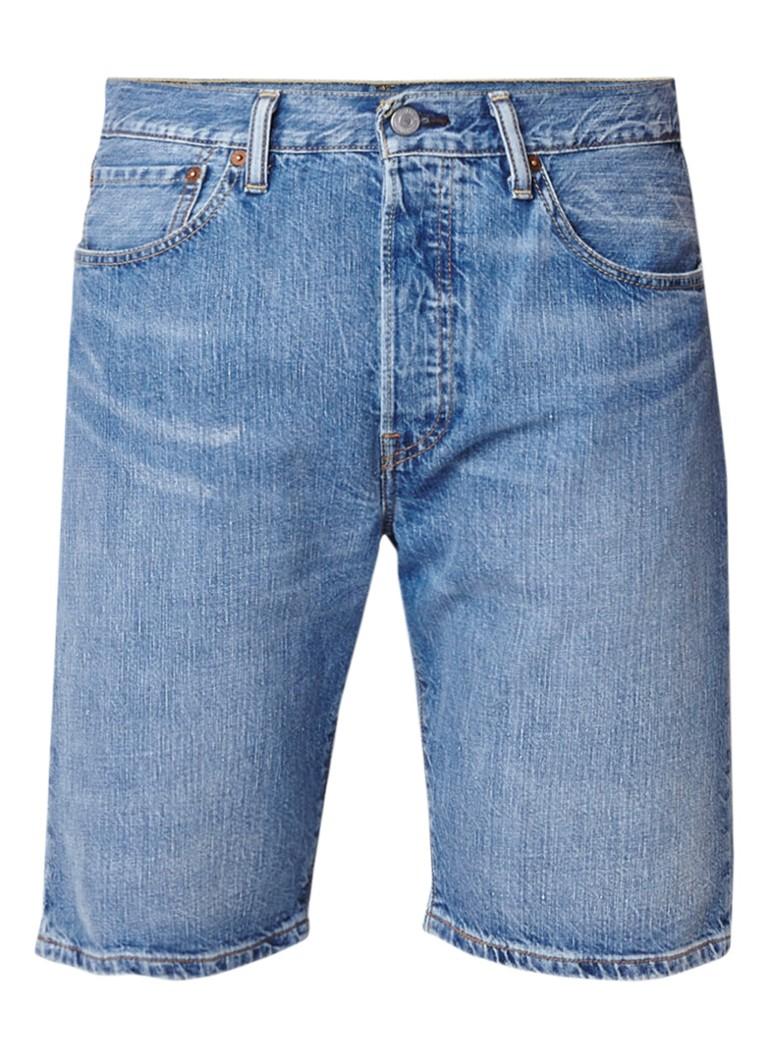 Levi's 501 regular fit denim shorts met faded look