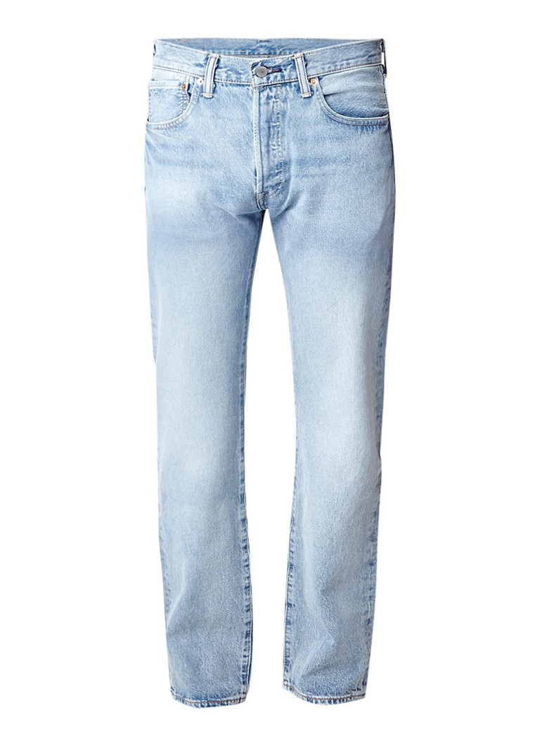 Levi's 501 high rise straight fit jeans met stonewash