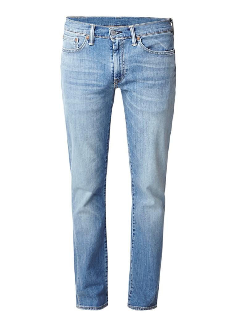 Levi's 511 mid rise slim fit jeans met sun fade