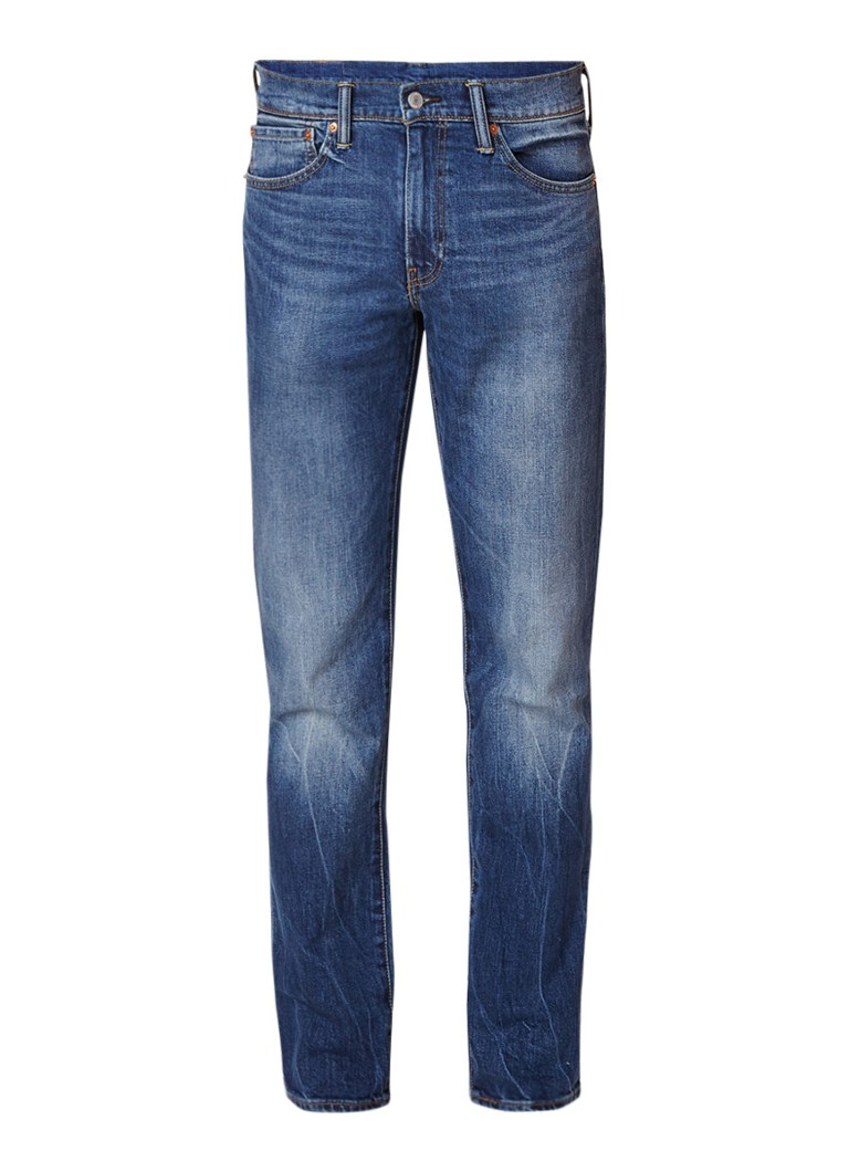 Levi's 511 mid rise slim fit jeans met faded look