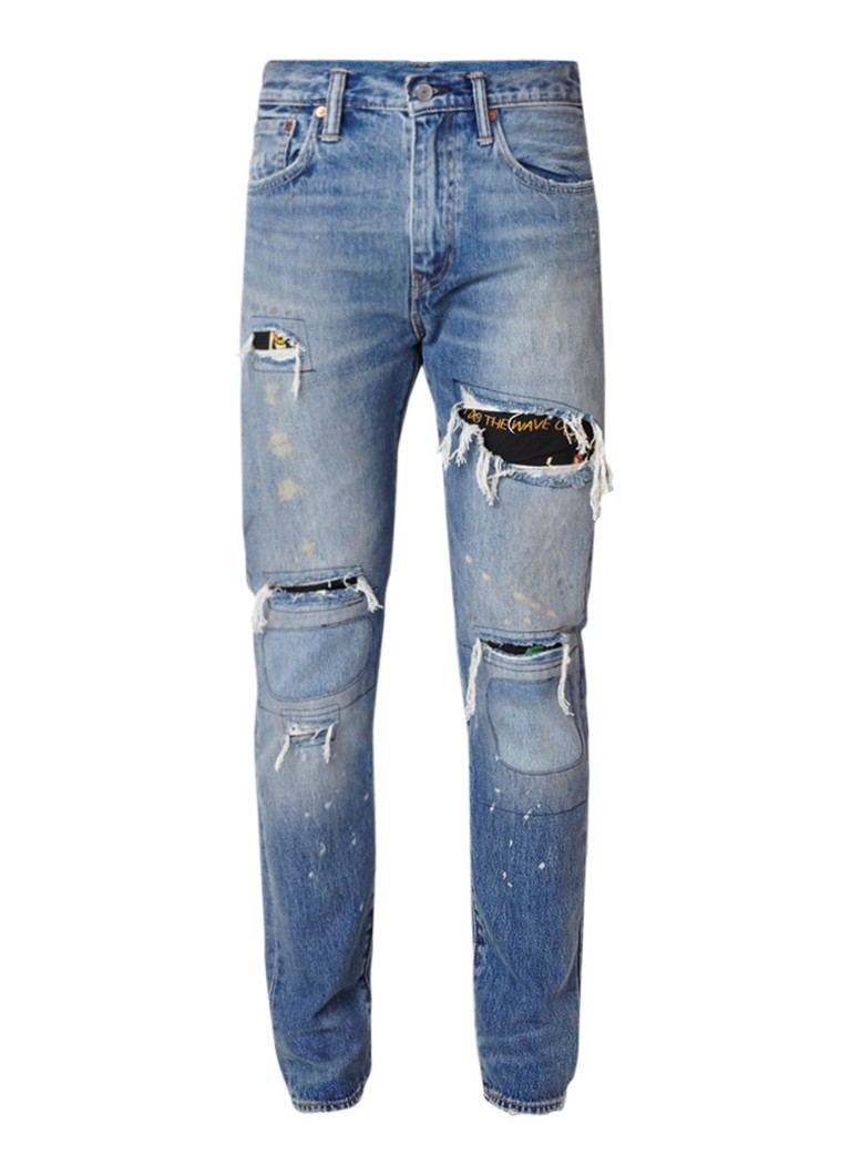 Levi's 512 high rise slim fit jeans in destroyed look