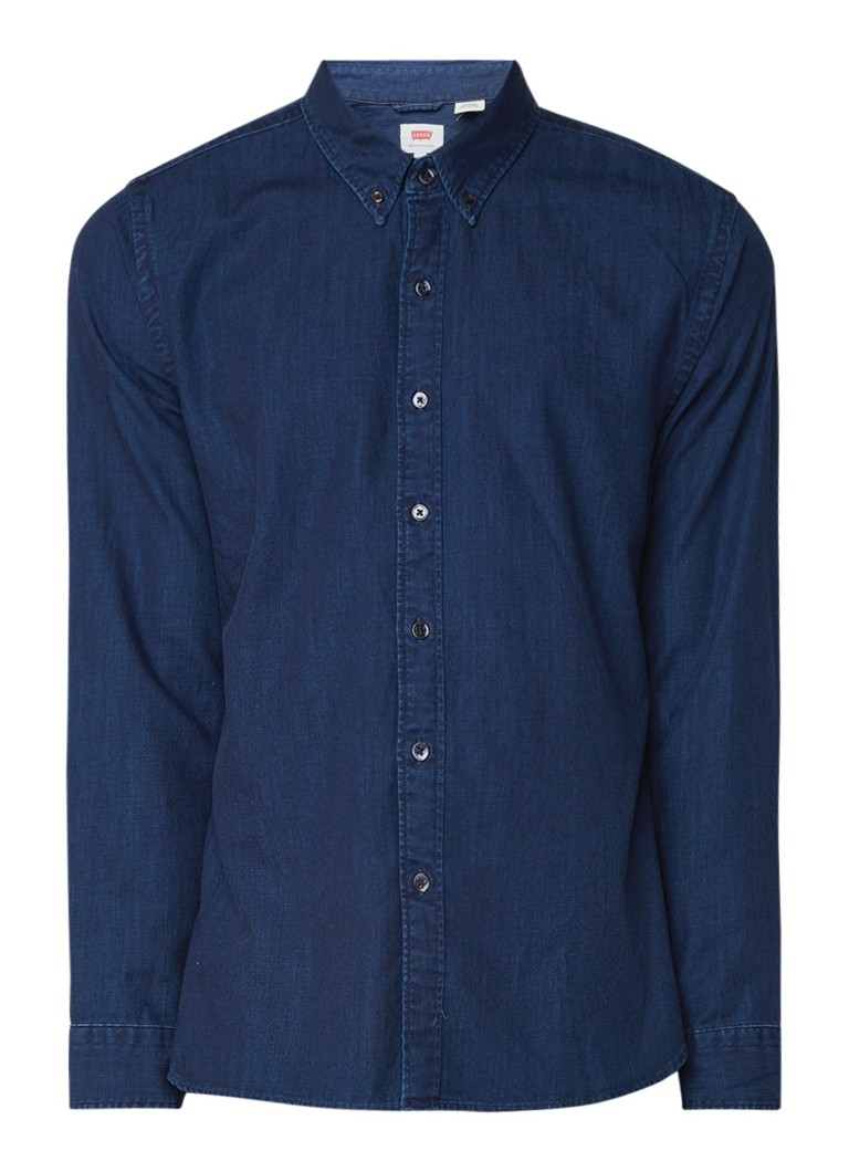 Levi's Regular fit denim button down-overhemd