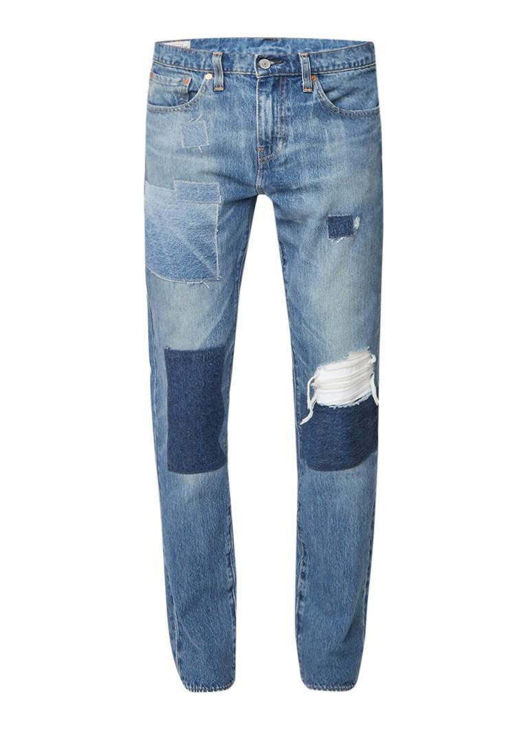 Image of Levi's 511 Jupiter Warp slim fit jeans met patches