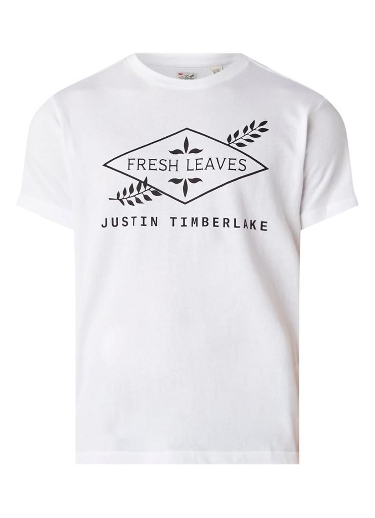 Levi's Fresh Leaves T-shirt met tekstopdruk