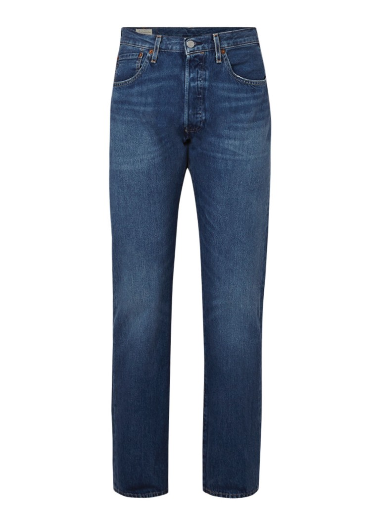 Levi's 501 High rise straight fit jeans met stretch