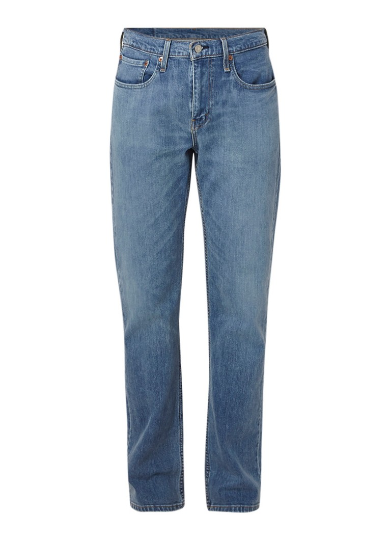 Levi's 514 mid rise straight fit jeans met medium wassing