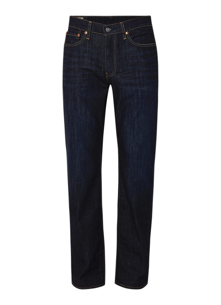 Levi's 514 mid rise straight fit jeans met donkere wassing