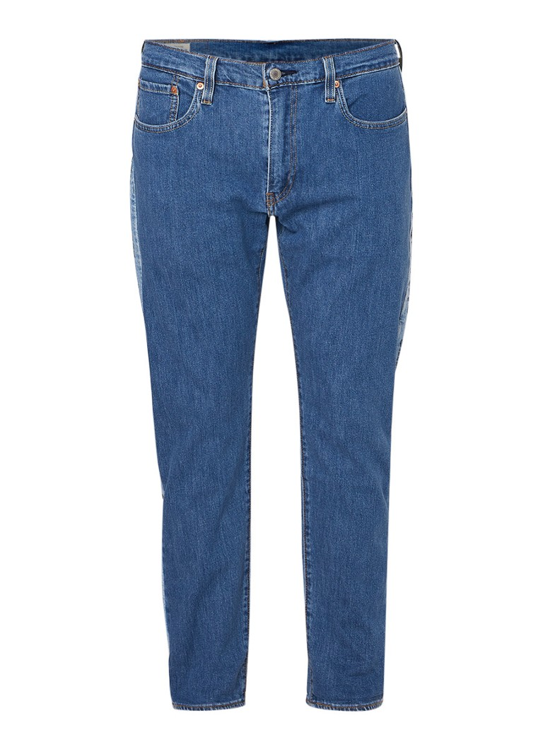 Levi's Hi-Ball Roll cropped tapared fit jeans met logobies