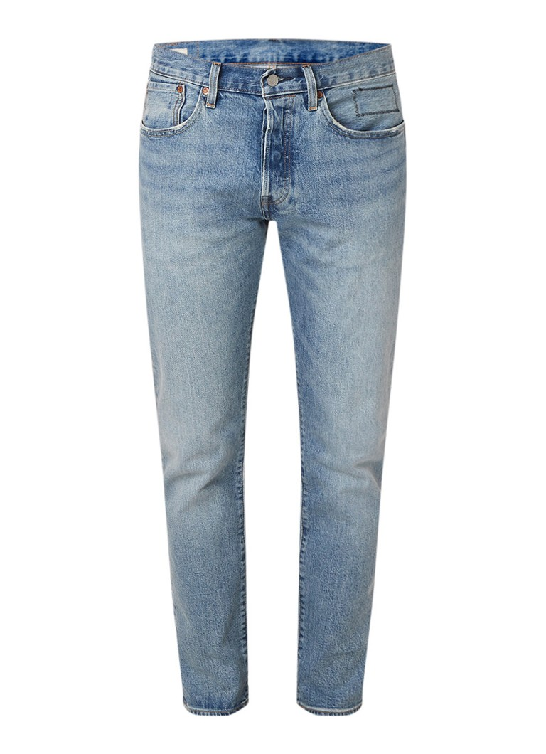 Levi's 501 Hillman slim fit jeans met lichte wassing