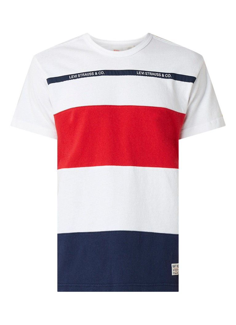 Image of Levi's Mighty Made T-shirt met colour blocking