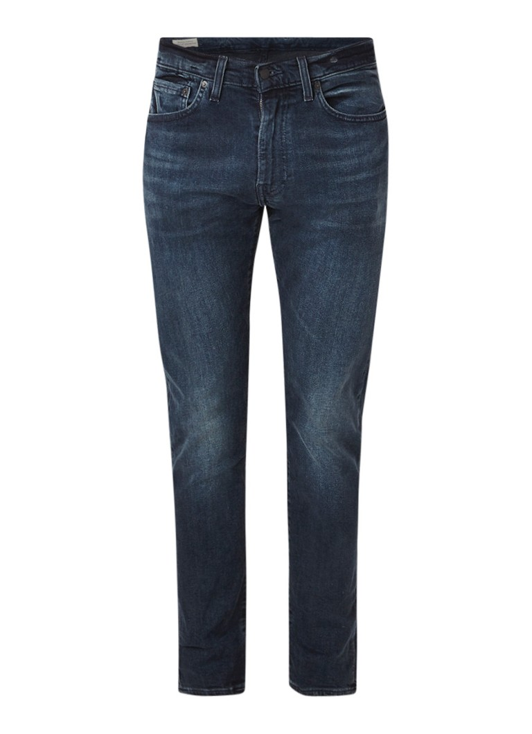 Levi's 512 slim tapered fit jeans met donkere wassing
