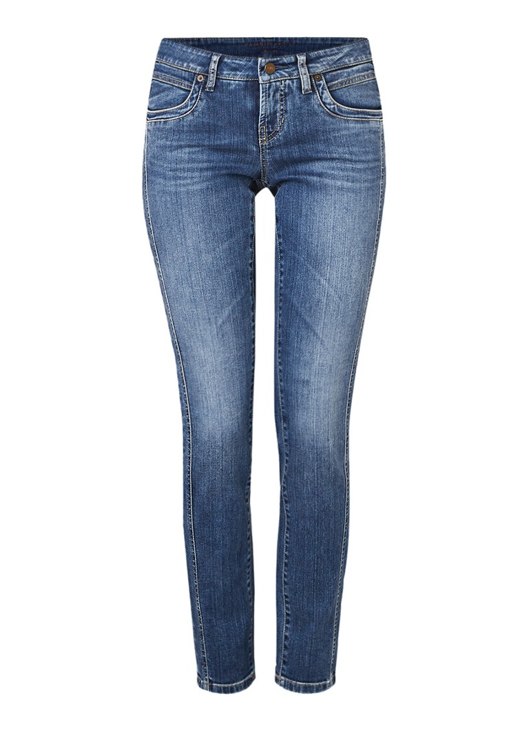 Claudia Sträter Cambio Love low rise cropped slim fit jeans met medium wassing