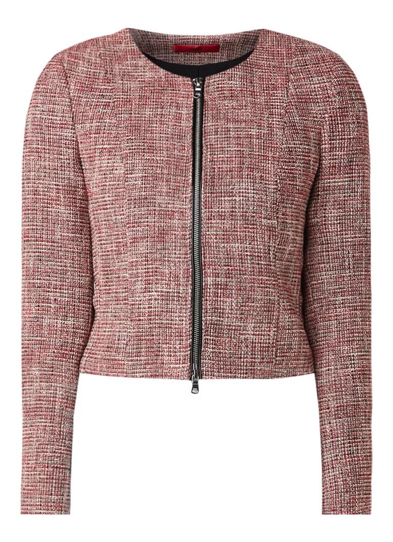 HUGO BOSS Acetta blazer van tweed met ritsen
