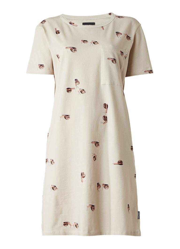 Snurk Slug Tshirt jurk met