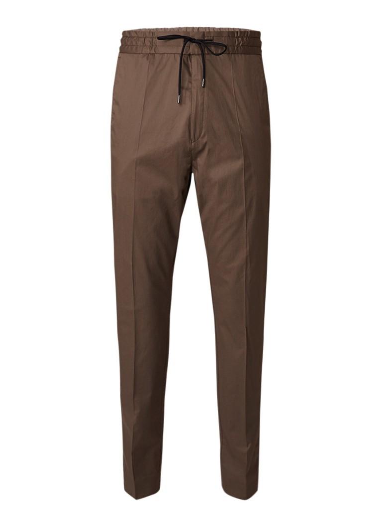 HUGO BOSS Himesh5 broek van stretchkatoen met elastische tailleband