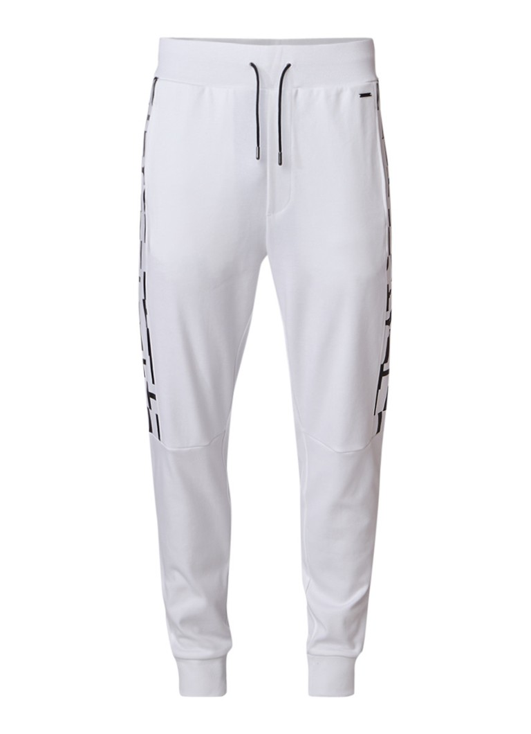 HUGO BOSS Dillow tapered fit sweatpants met tekstprint