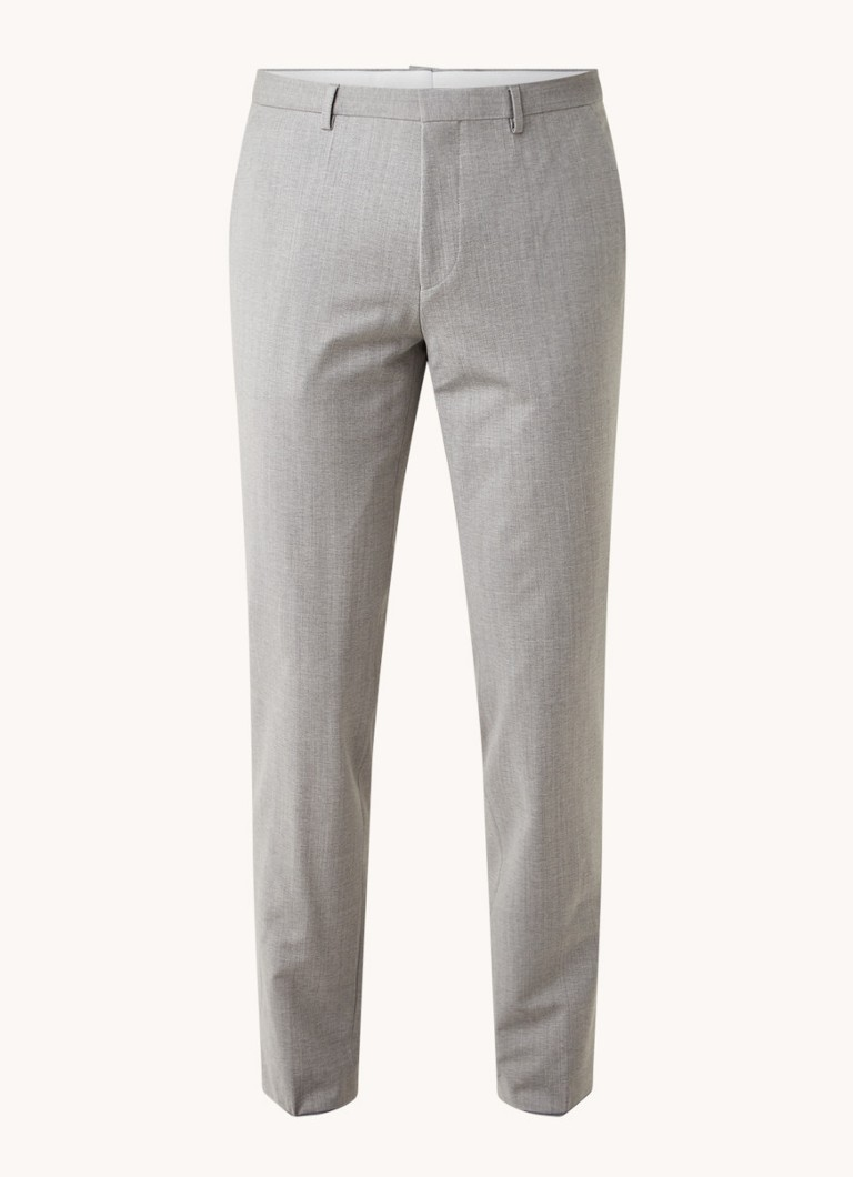HUGO Hesten extra slim fit pantalon in wolblend