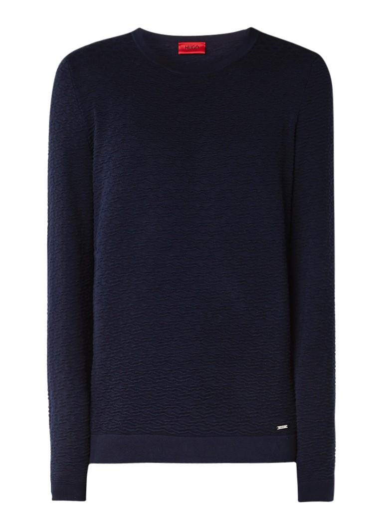 HUGO BOSS Dicagolo sweater van katoen met logo