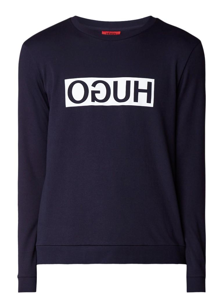 HUGO BOSS Dicago sweatshirt met ronde hals en logoprint