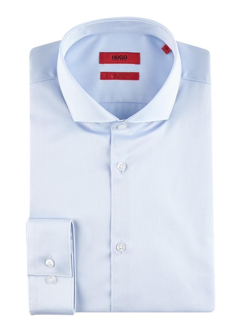 HUGO BOSS Erriko extra slim fit easy iron overhemd in uni