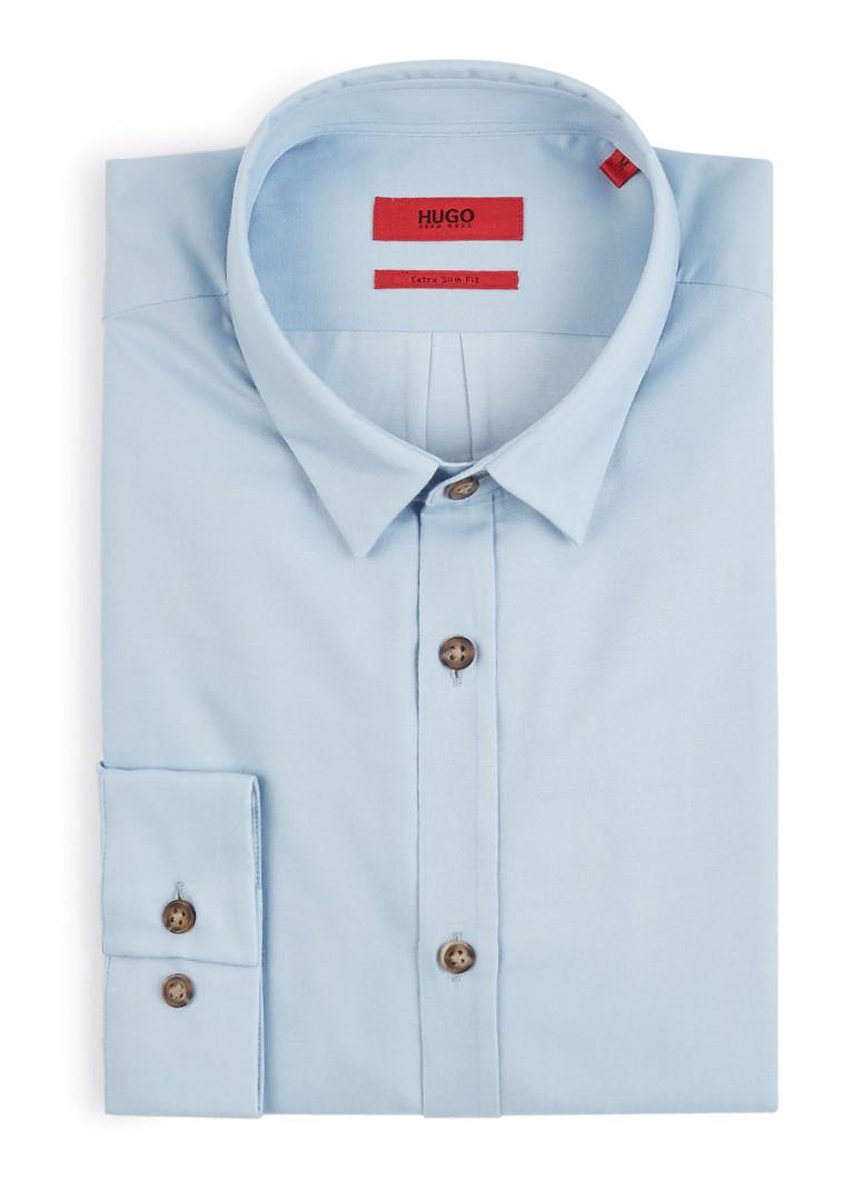 HUGO BOSS Ero3-W extra slim fit overhemd met vlammende knopen
