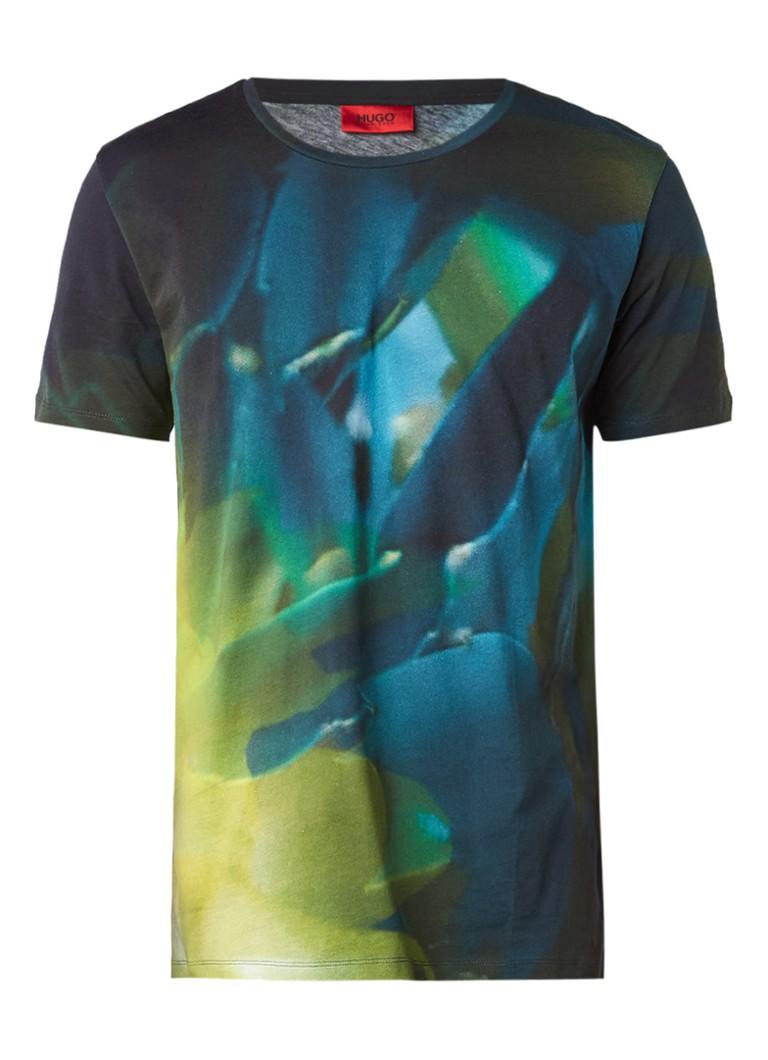 HUGO BOSS Dunny T-shirt met abstracte print