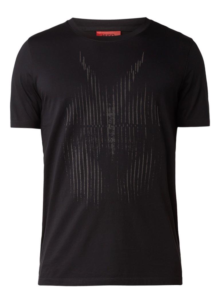 HUGO BOSS Deetle T-shirt met abstracte print