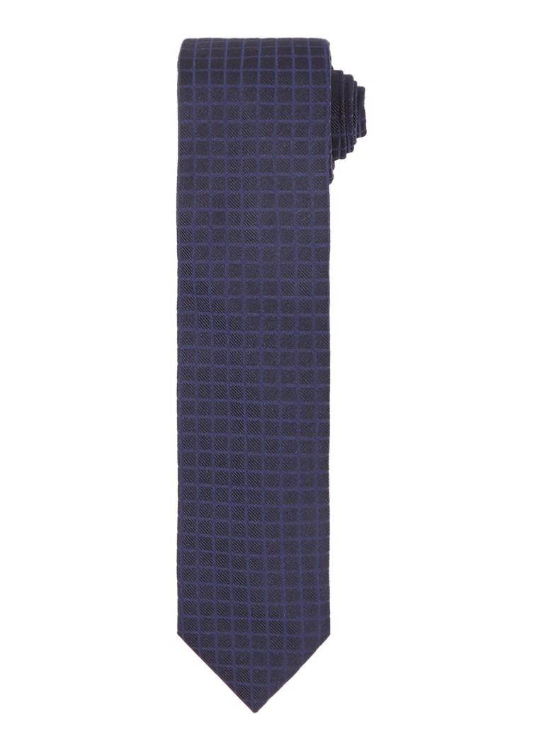 Stropdassen HUGO BOSS Stropdas van zijde met ruitdessin Donkerblauw