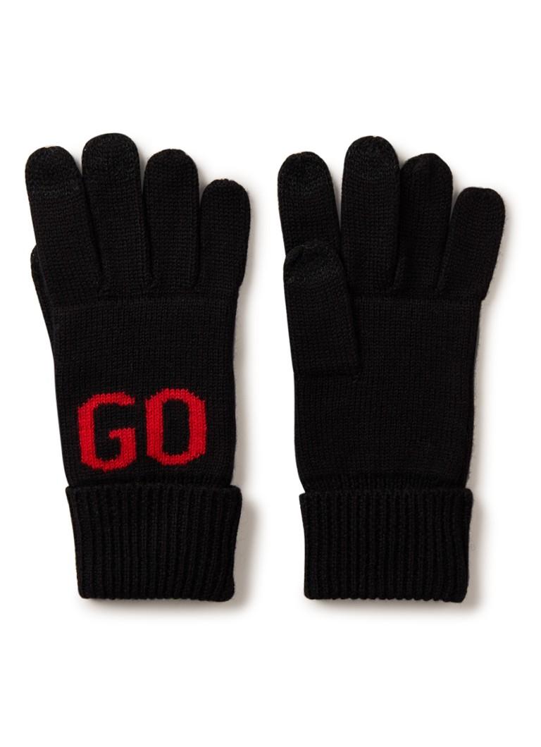 Image of HUGO BOSS Handschoenen in wolblend met logo