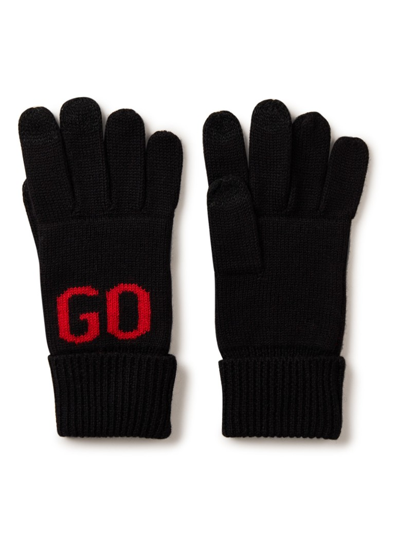 HUGO BOSS Handschoenen in wolblend met logo