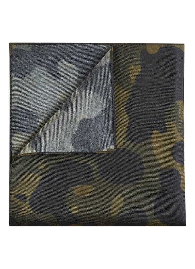 Image of HUGO BOSS Pochet van zijde met camouflageprint