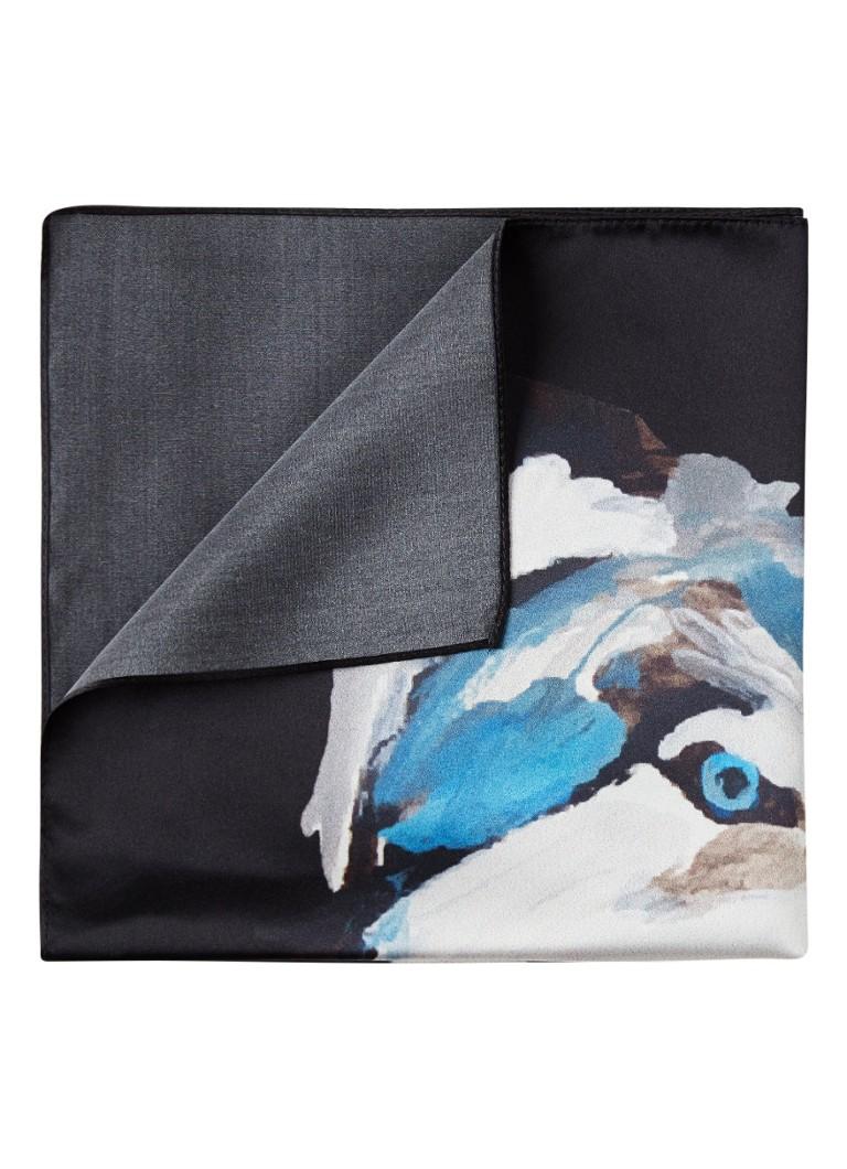 Image of HUGO BOSS Pochet van zijde met wolfprint