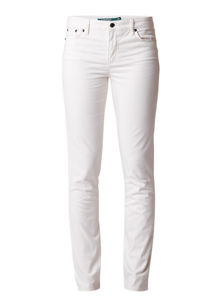 Ralph Lauren High rise slim fit jeans met gekleurde wassing