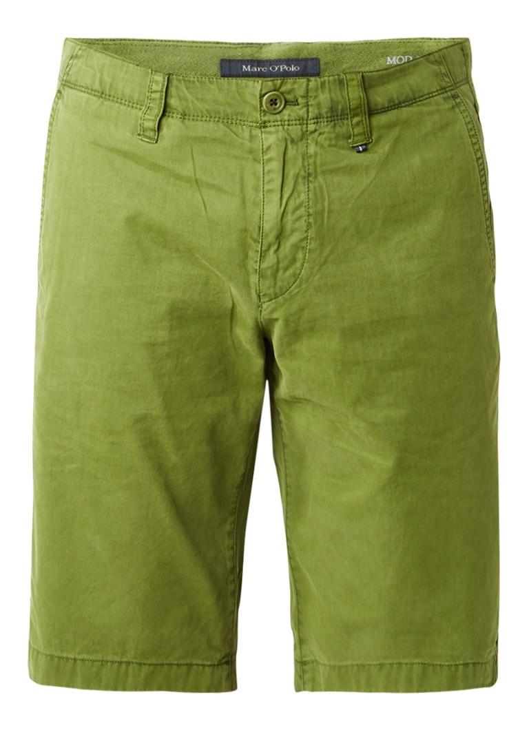 Broeken Marc O Polo Regular fit shorts van katoen Groen