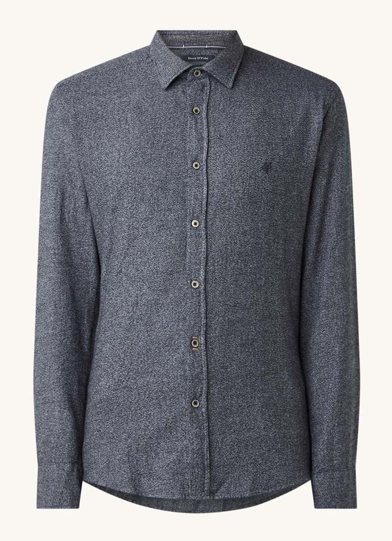 Marc O'Polo Regular fit fijngebreid overhemd