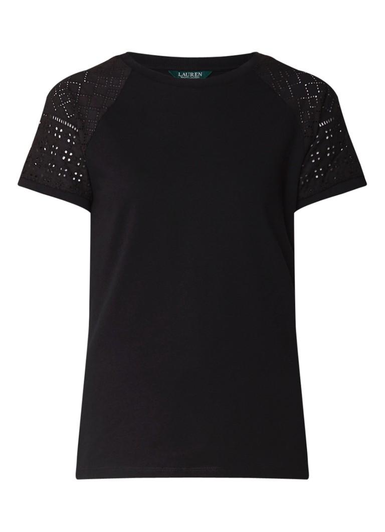 Ralph Lauren T-shirt met raglanmouw en broderie