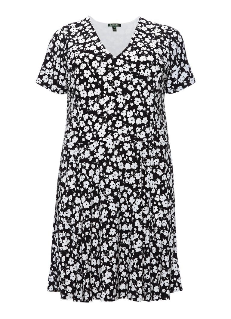 Ralph Lauren Ednes A-lijn jurk met bloemendessin blauw