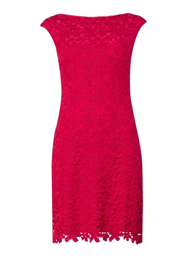 Ralph Lauren Montague jurk van kant rood