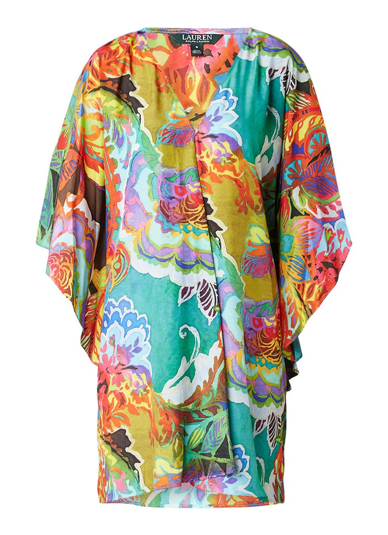 Ralph Lauren Braedyn tuniekjurk met vlindermouw en abstract bloemdessin multicolor
