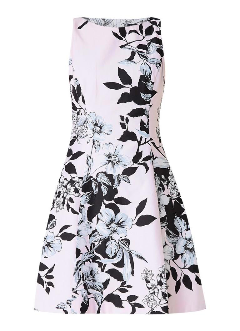 Ralph Lauren Esther A-lijn jurk met bloemendessin lichtroze